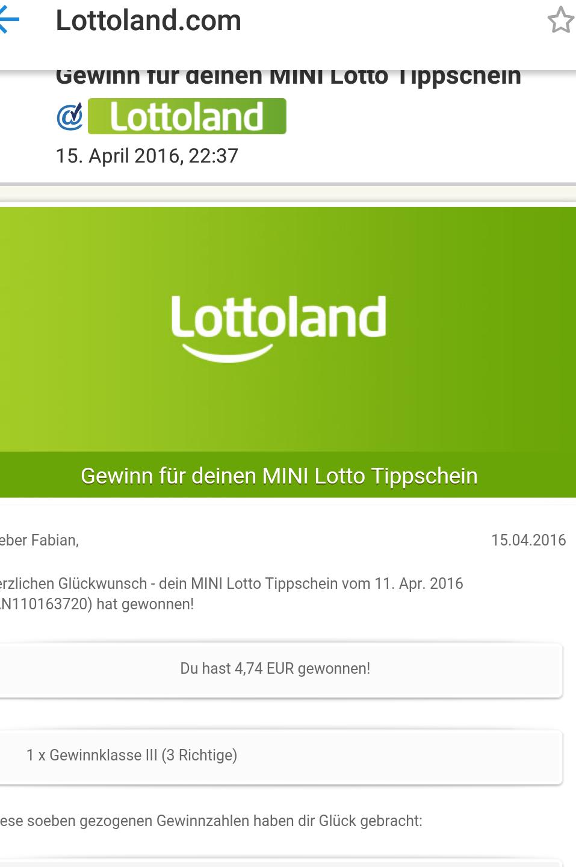 Lotto online Gewinn 336209