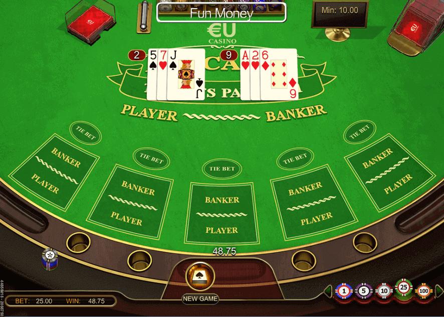Baccara Kartenspiel 79209