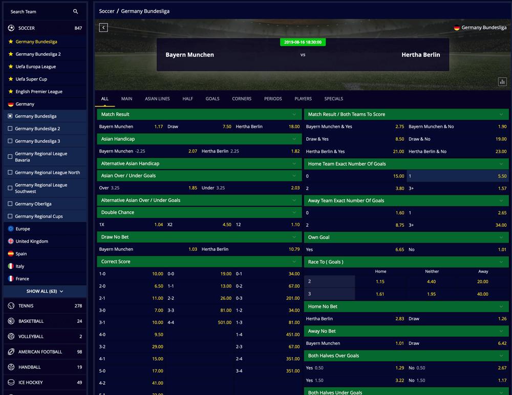 Spielsysteme Bundesliga echte 670622