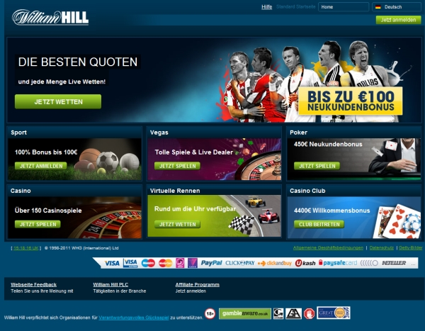 Wetten William Hill 85709